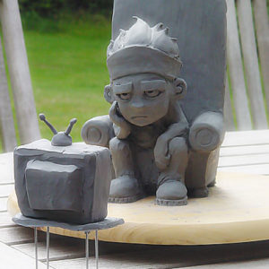 Kerf clay sculpt